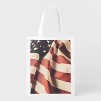 United States flag filter Reusable Grocery Bag
