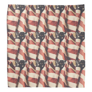 United States flag filter tiled Bandana