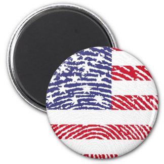 united states flag fingerprint 2 inch round magnet