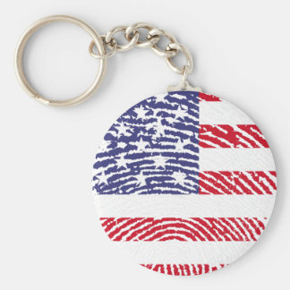 united states flag fingerprint keychain