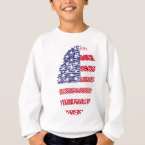 united states flag fingerprint sweatshirt