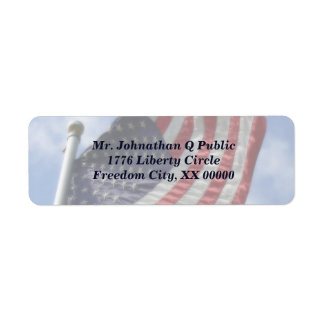 United States Flag Flying Label