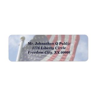 United States Flag Flying Label