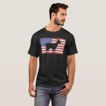 United States Flag & Goat T-Shirt