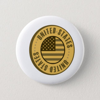 United States Flag Gold Coin Button