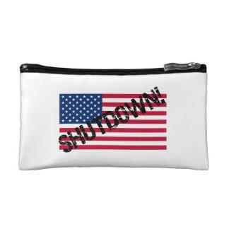 United States Flag Government Shutdown Cosmetics Bags