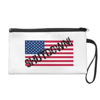 United States Flag Government Shutdown Wristlet Clutches
