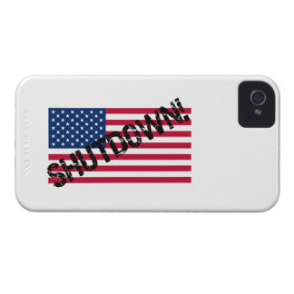 United States Flag Government Shutdown Case-Mate iPhone 4 Cases