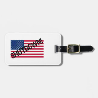 United States Flag Government Shutdown Tag For Luggage