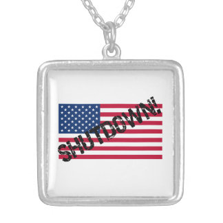United States Flag Government Shutdown Necklace