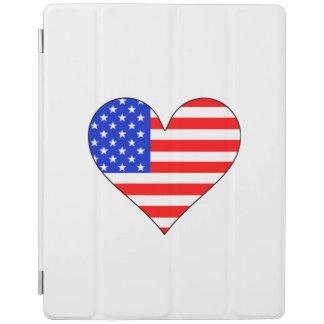 United States Flag Heart iPad Cover