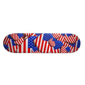 United States Flag Hearts Skateboard Deck