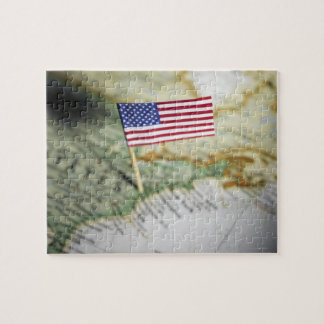 United States flag in map Jigsaw Puzzle