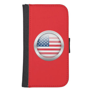United States Flag in Orb Phone Wallet