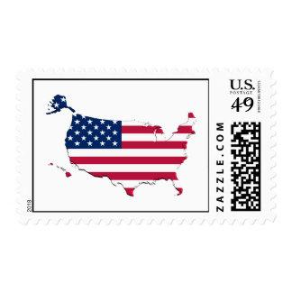 United states Flag-Map Postage