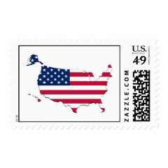 United states Flag-Map Postage