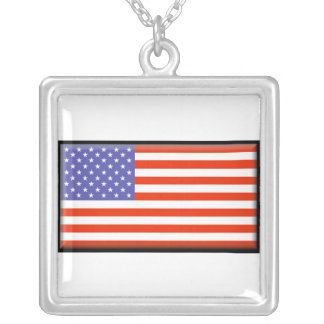 United States Flag Necklace