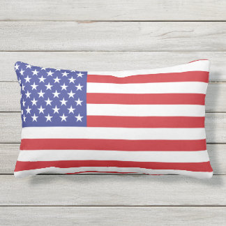 United States Flag Outdoor Pillow