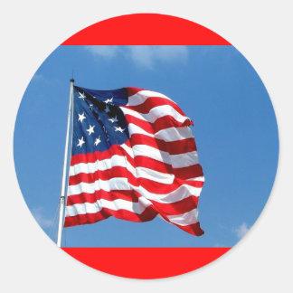 United States flag Peel Off Stickers