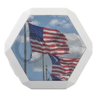United States Flag Photograph White Bluetooth Speaker