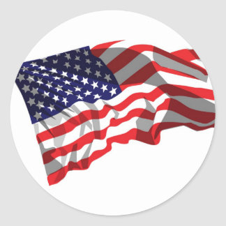 United States Flag Round Sticker