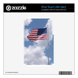 United States Flag Decal For iPod Touch 4G