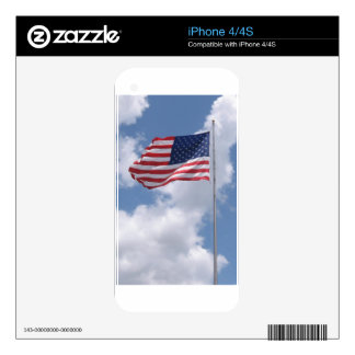 United States Flag Decal For iPhone 4