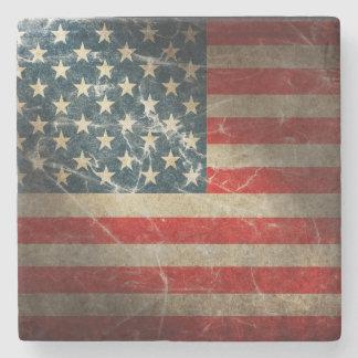 UNITED STATES FLAG STONE COASTER