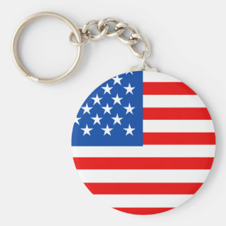 United States Flag T-shirts and Gifts Basic Round Button Keychain