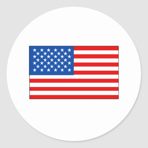 United States Flag T-shirts and Gifts Round Stickers