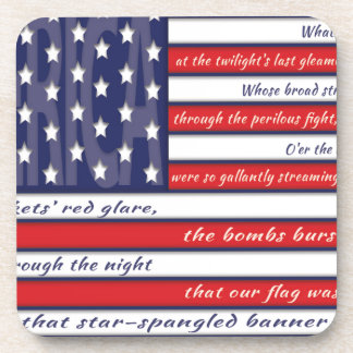 United States Flag, The Star Spangled Banner Beverage Coaster