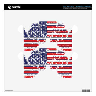 United States Flag, The Star Spangled Banner Decal For PS3 Controller