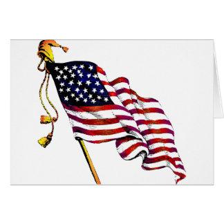 United States Flag Vintage Greeting Card