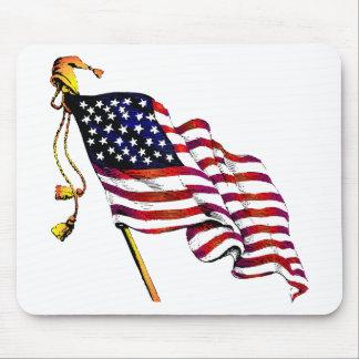 United States Flag Vintage Mouse Pad