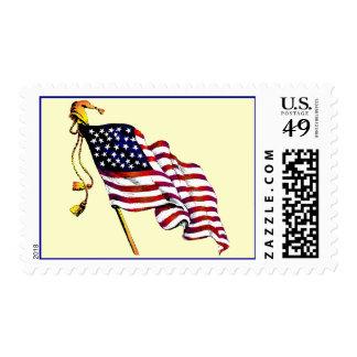 United States Flag Vintage Postage Stamps