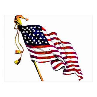 United States Flag Vintage Postcard