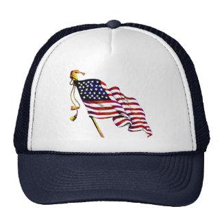 United States Flag Vintage Trucker Hat