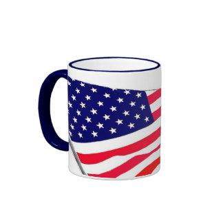 United States Flag Waves Mug Mug