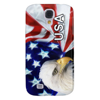 United States Flag with Bald Eagle iPhone 3G case Galaxy S4 Covers