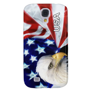United States Flag with Bald Eagle Patriotic Case Galaxy S4 Cases