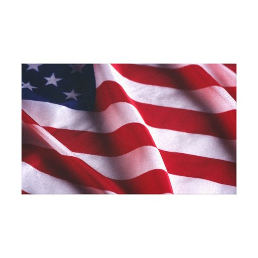 United States Flag Wrapped Canvas Canvas Print