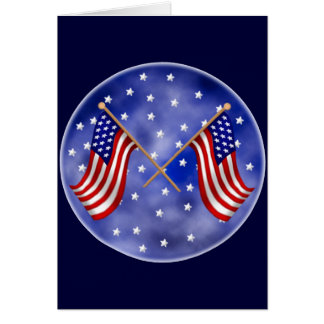 United States Flags Greeting Card