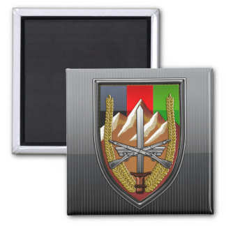 United States Forces Afghanistan 2 Inch Square Magnet