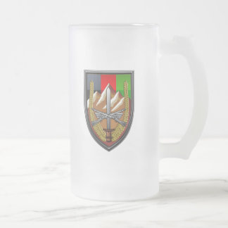 United States Forces Afghanistan Frosted Glass Beer Mug