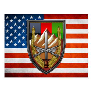 United States Forces Afghanistan Postcard