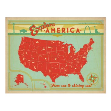 AndersonDesignGroup United States | From Sea to Shining Sea Postcard
