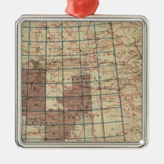 United States Geographical Surveys Metal Ornament