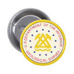 United States Geological Survey 2 Inch Round Button