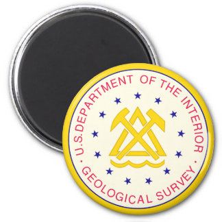 United States Geological Survey 2 Inch Round Magnet