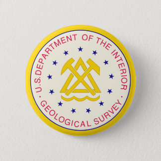 United States Geological Survey Pinback Button